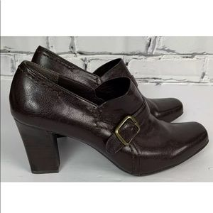 Franco Sarto Womens Faux Leather Heels Size 11M